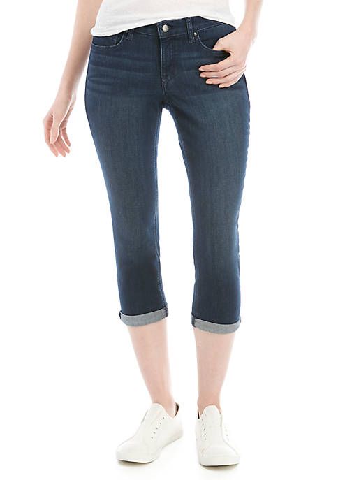 Crown & Ivy™ Rolled Cuff Crop Denim Pants