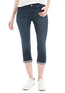Crown & Ivy™ Rolled Cuff Crop Denim Pants