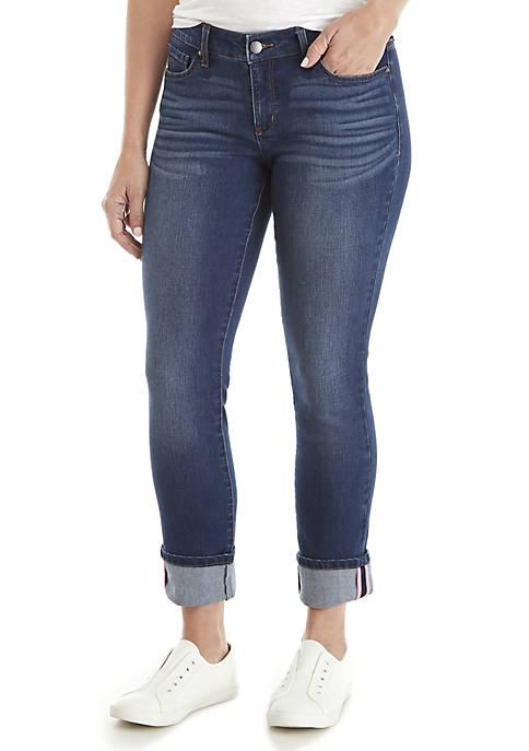 Crown & Ivy™ Petite Cuffed Skinny Jeans