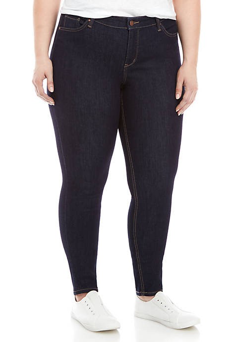 Crown & Ivy™ Plus Size Short Skinny Jeans