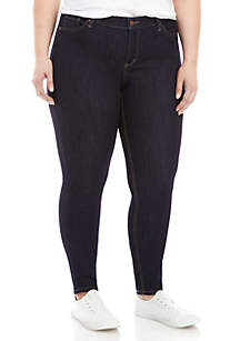 Plus Size Short Skinny Jeans