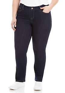 Plus Size Short Straight Leg Jeans