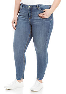 Plus Size True Blue Skinny Ankle Jeans
