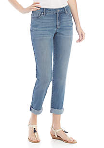 Crown & Ivy™ High Rise Girlfriend Jeans