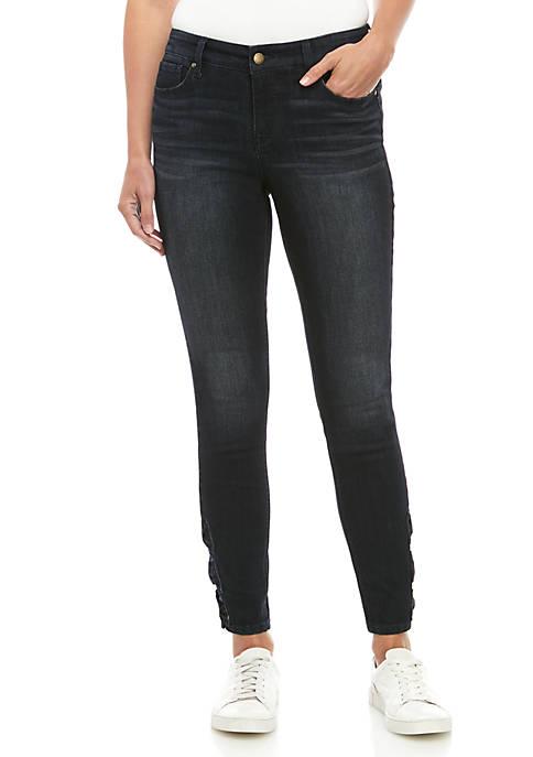 Denim Skinny Jeans with Bows