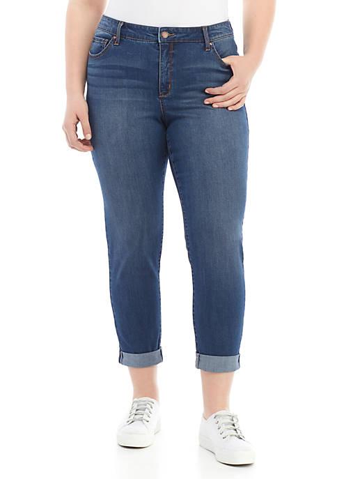 Plus Size High Rise Girlfriend Jeans