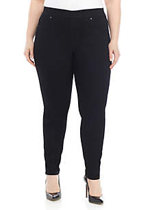 Crown & Ivy™ Plus Size Pull On Skinny Jeans