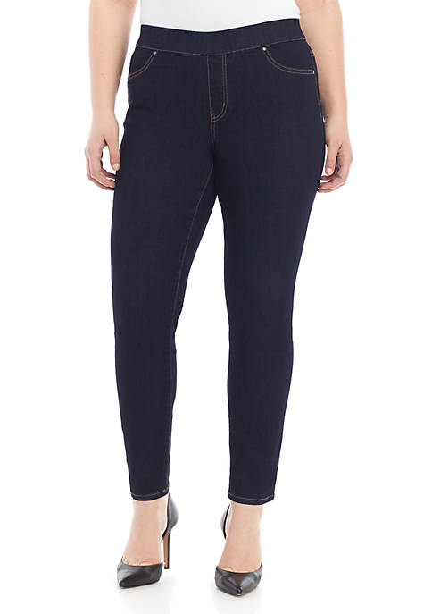 Plus Size Pull On Skinny Jeans