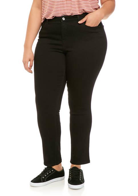 Plus Size Straight Denim Jeans