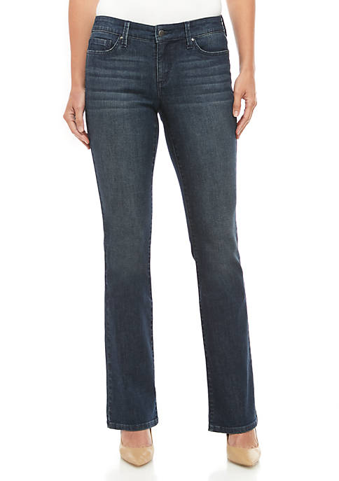 Petite 5 Pocket Boot Cut Jeans