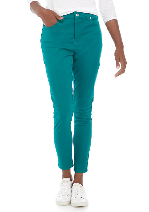 Crown & Ivy™ Womens High Rise Colored Skinny