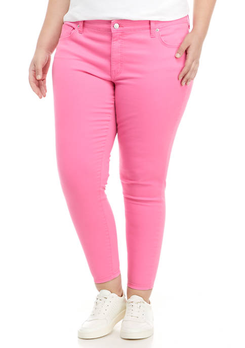 Crown & Ivy™ Plus Size Mid Rise Skinny