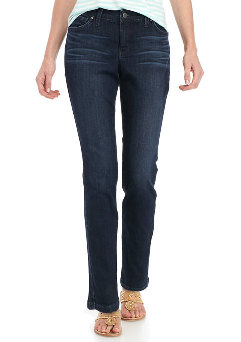 Crown & Ivy™ Womens Frayed Skinny Jeans- Short