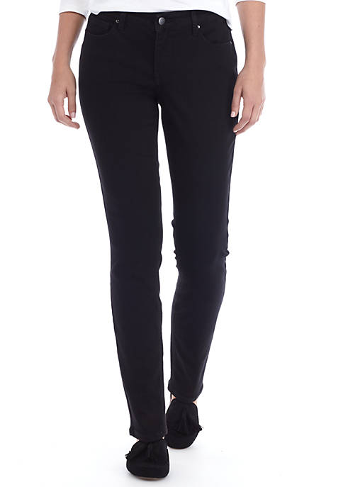 Crown & Ivy™ Cigarette Black Regular Skinny Jeans
