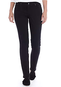 Cigarette Black Short Skinny Jeans