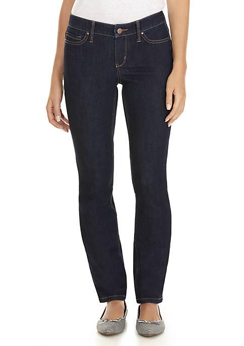 Short Straight Leg Jeans