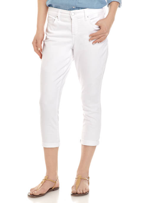 Crown & Ivy™ Petite Rolled Cuff Skinny Capris