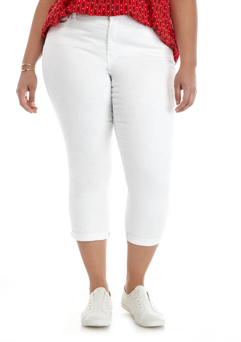 Crown & Ivy™ Plus Size Rolled Cuff Skinny