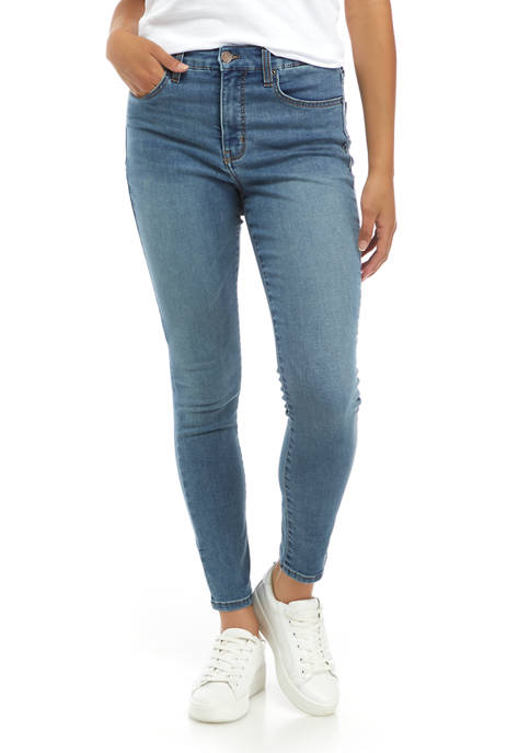 Crown & Ivy™ Womens High Rise Skinny Jeans