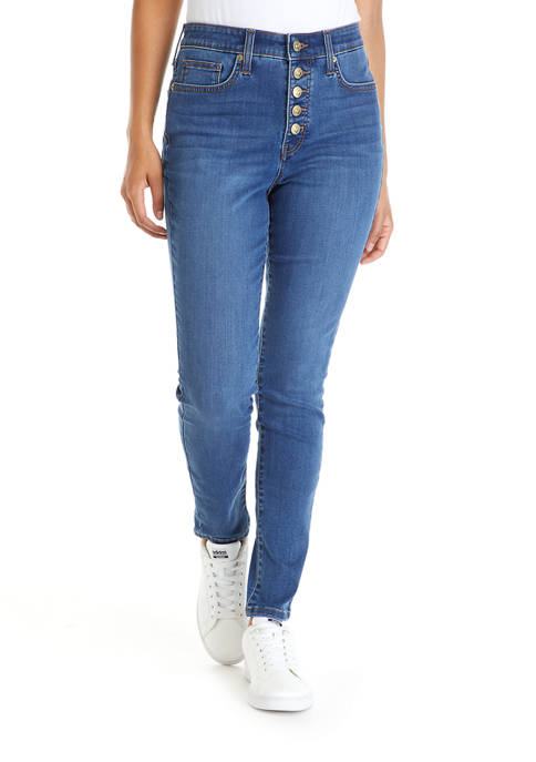 Crown & Ivy™ Womens High Rise Skinny Bottom
