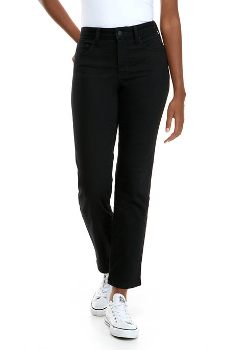 Crown & Ivy™ Womens Mid Rise Straight Jeans