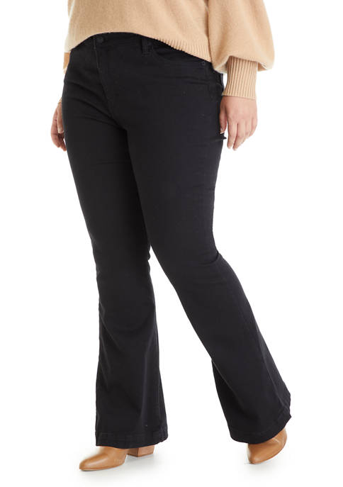 Crown & Ivy™ Plus Size Mid Rise Flare