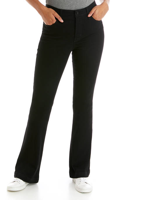 Crown & Ivy™ Petite Mid Rise Flare Jeans