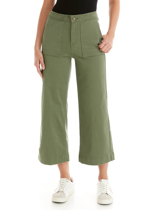 Crown & Ivy™ Womens Wide Leg Denim Pants