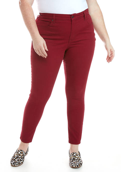 Plus Size High Rise Skinny Jeans