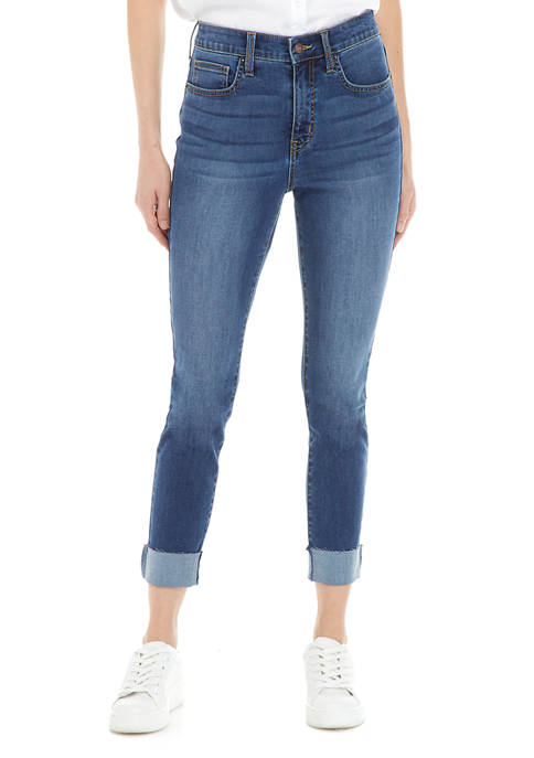 Crown & Ivy™ Womens High Rise Skinny Rolled