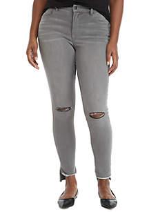 Plus Size Skinny 5 Pocket Jeans