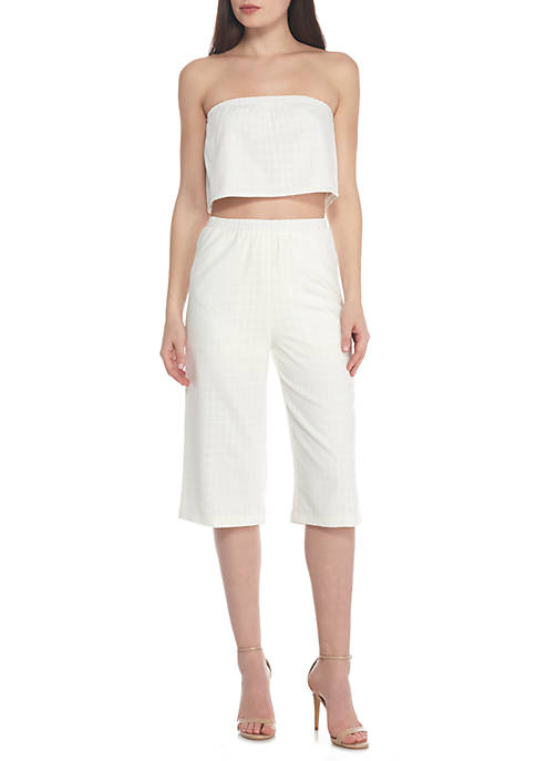 ALI & JAY Textured Culotte 2-Piece Set