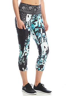 Nanette Lepore Feminine And Trendy Spliced Floral Slide Capri
