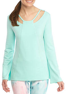Nanette Lepore Criss Cross Cut-Out Trendy Pullover Shirt