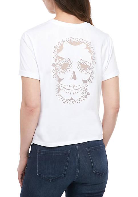 Distressed Short Sleeve T Shirt
