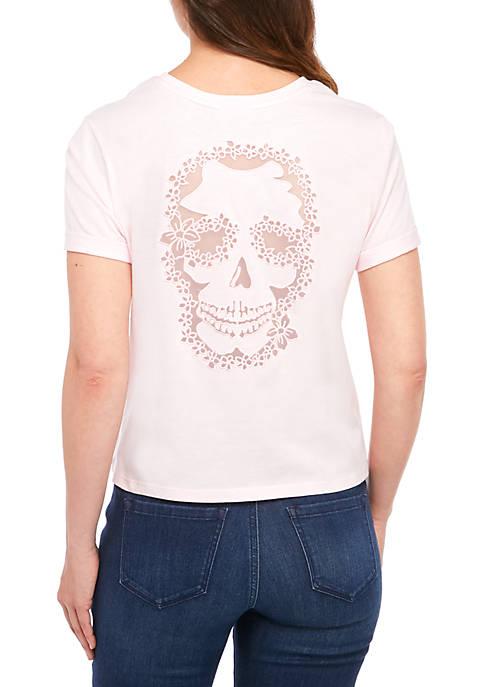 nanette NANETTE LEPORE™ Distressed Short Sleeve T Shirt