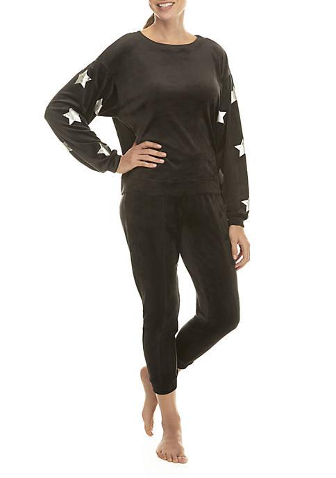 Velour Star Sweatshirt