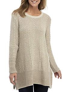 Shark Bite Herringbone Sweater