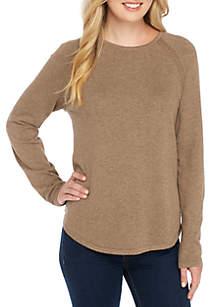 Fine Gauge Crew Neck Sweater