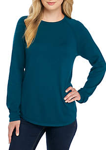 Fine Gauge Crew Neck Sweater