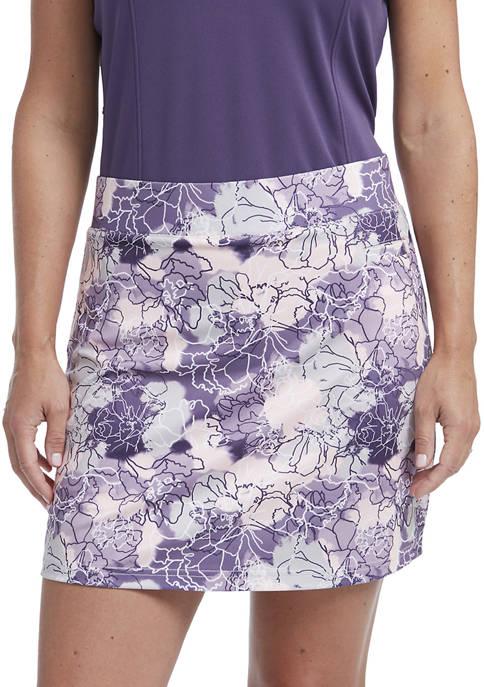 Womens Printed Knit Skort