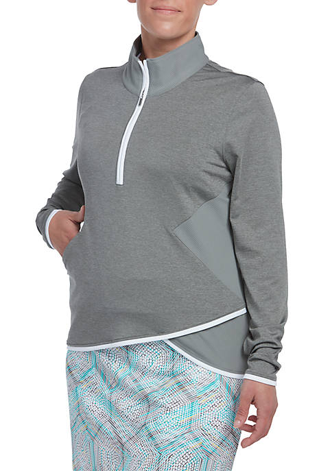 PEBBLE BEACH™ Ribbed 1/2 Zip Pullover