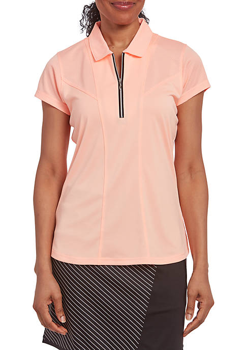 PEBBLE BEACH™ Solid Jersey Short Sleeve Polo