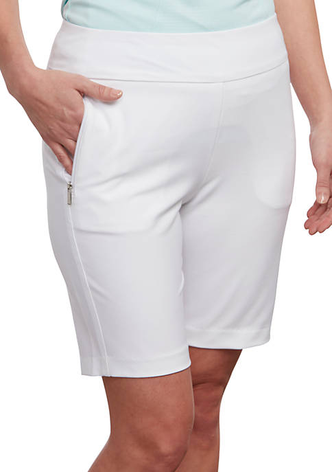 Woven Stretch Twill Shorts