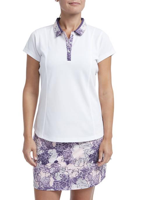 Womens Piqué Short Sleeve Polo T-Shirt