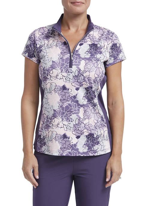 Womens Jersey Short Sleeve Polo Shirt