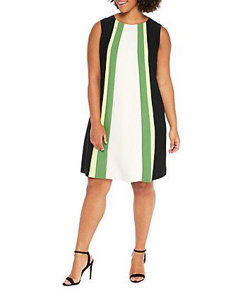 Plus Size Colorblock Dress