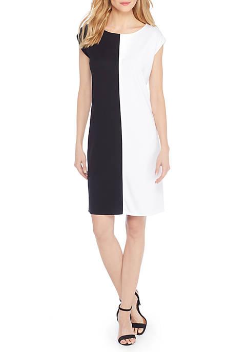 Extended Shoulder Shift Dress