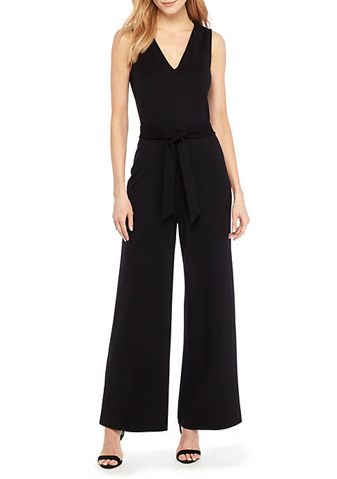 THE LIMITED Petite Ponte Sleeveless Jumpsuit