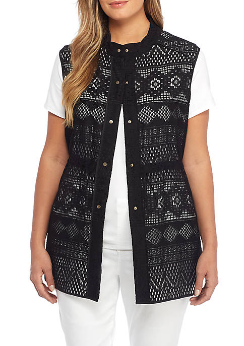 THE LIMITED Plus Size Lace Vest